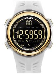 Недорогие -Муж. Спортивные часы электронные часы Цифровой Стеганная ПУ кожа Черный / Белый Защита от влаги Календарь Цифровой На каждый день Мода - Черный и золотой Черный / Синий Белый / Золотистый