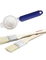 Недорогие -Инструменты для выпечки Дерево ABS + PC Новый дизайн Своими руками Хлеб Торты Печенье Круглый Прямоугольный Набор щеток 3шт