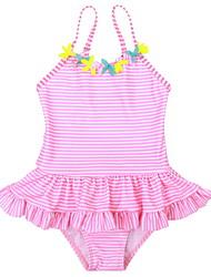 お買い得  -幼児 女の子 スポーツ ソリッド ポリエステル 水着 ピンク