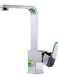 Недорогие -кухонный смеситель - Современный Никель Полированная Керамический клапан