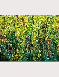 Недорогие -Hang-роспись маслом Ручная роспись - Пейзаж / Цветочные мотивы / ботанический Modern Без внутренней части рамки