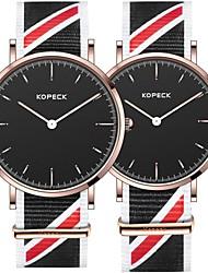 Недорогие -Kopeck Для пары Наручные часы электронные часы Японский Японский кварц Нейлон Черный / Серый / Небесно-голубой 30 m Защита от влаги Повседневные часы Милый Аналоговый Мода минималист -