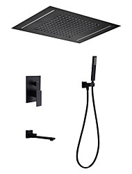 Недорогие -Смеситель для душа - Современный Окрашенные отделки Душевая система Керамический клапан Bath Shower Mixer Taps / Латунь