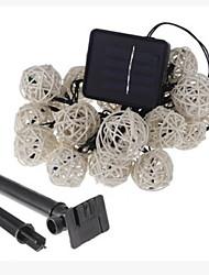 Недорогие -6,8 млн Гирлянды 30 светодиоды Тёплый белый Работает от солнечной энергии / Для вечеринок Солнечная энергия 1 комплект