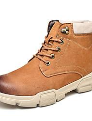 hesapli -Erkek Ayakkabı Deri İlkbahar & Kış Sportif / Klasik Spor Ayakkabısı Günlük / Ofis ve Kariyer için Siyah / Bej / Kahverengi