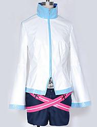 billiga -Inspirerad av Vocaloid Hatsune Miku Animé Cosplay-kostymer cosplay Suits Enfärgad / Enkel Topp / Skärp / Mer accessoarer Till Herr / Dam