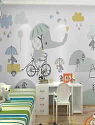 Недорогие -обои / фреска холст Облицовка стен - Клей требуется Живопись / Рисунок / 3D