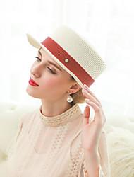 abordables -Elizabeth La merveilleuse Mme Maisel Chapeaux de feutre chapeau dames Rétro / Vintage Femme Beige / Café / Bleu Rétro Fabrication CAP Organza Fibre Les costumes