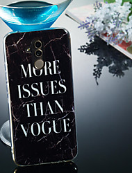 cheap -Case For Huawei Huawei Mate 20 Lite / Huawei Mate 20 Pro IMD / Pattern Back Cover Word / Phrase / Marble Soft TPU for Huawei Honor 10 / Huawei Honor 9 Lite / Huawei Honor 8X