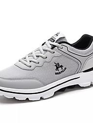 hesapli -Erkek Ayakkabı PU Sonbahar Günlük Atletik Ayakkabılar Yürüyüş Günlük için Siyah / Koyu Mavi / Açık Gri