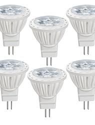 abordables -6pcs 4 W 350 lm MR11 Spot LED MR11 4 Perles LED SMD 2835 Blanc Chaud / Blanc Froid 12 V
