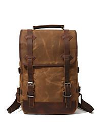 Недорогие -Муж. Мешки холст рюкзак Молнии Серый / Военно-зеленный / Хаки
