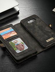 billiga -CaseMe fodral Till Samsung Galaxy S8 Plus Plånbok / Korthållare / med stativ Fodral Enfärgad Hårt PU läder för S8 Plus