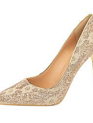 economico -Per donna Raso Primavera estate / Autunno inverno scarpe da sposa A stiletto Appuntite Fucsia / Rosa / Vino / Matrimonio / Serata e festa