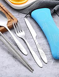 Недорогие -посуда 1 комплект Экологичные Многофункциональные Нержавеющая сталь Столовая вилка Столовый нож палочки для еды