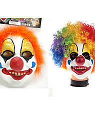 Недорогие -Клоун Цирк Платья Костюм для вечеринки Взрослые Муж. Забавные Хэллоуин Рождество Хэллоуин Карнавал Фестиваль / праздник клей Цвет радуги Карнавальные костюмы Праздник