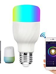 Недорогие -Brelong Smart Wi-Fi Smart Bulb RGBW Затемняемый светодиодный светильник совместим с Alexa / Google Главная страница