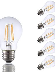 abordables -GMY® 6pcs 3.5 W 350 lm E26 / E27 Ampoules à Filament LED A17 4 Perles LED COB Décorative Blanc Chaud 120 V