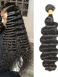billige -1 pakke Brasiliansk hår Dyp Bølge Remy Menneskehår Hairextensions med menneskehår 8-28 tommers Hårvever med menneskehår Myk Beste kvalitet Ny ankomst Hairextensions med menneskehår Dame