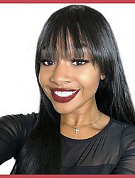 Недорогие -человеческие волосы Remy Полностью ленточные Лента спереди Парик Ассиметричная стрижка стиль Бразильские волосы Прямой Естественный прямой Парик 130% 150% 180% Плотность волос