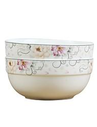 abordables -2-Pièces Bols Vaisselle Porcelaine Créatif