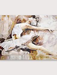 Недорогие -Hang-роспись маслом Ручная роспись - Люди Modern Включите внутренний каркас
