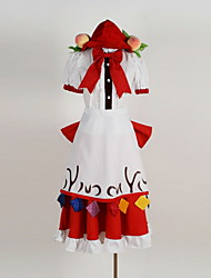 baratos -Inspirado por Projecto de Touhou Fantasias Anime Fantasias de Cosplay Ternos de Cosplay Padrão Peitilho / Vestido / Mais Acessórios Para Homens / Mulheres