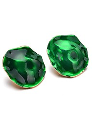 economico -Per donna geometrico Orecchini a bottone - Silicone Alla moda Gioielli Verde Per Quotidiano Ufficio e carriera / 1 paio