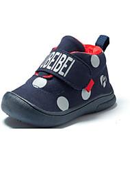 Недорогие -Мальчики Обувь Полиуретан Зима Обувь для малышей Кеды На липучках для Дети Морской синий / Красный / Светло-коричневый