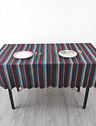 cheap -Classic Acetate Square Table Linens Striped Eco-friendly Heat Resistant Table Decorations