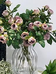levne -Umělé květiny 1 Větev Klasické Moderní Věčné květy Květina na stůl