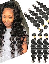 levne -4 svazky Brazilské vlasy Volné vlny Remy vlasy Příčesky z pravých vlasů 8-28 inch Lidské vlasy Vazby Módní design Měkký povrch Nejlepší kvalita Rozšíření lidský vlas Dámské
