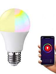 Недорогие -e27 светодиодные умные лампочки wifi 22 светодиодные шарики smd 2835 работает с амазонкой алексой / управление приложениями / google home rgbw 85-265v