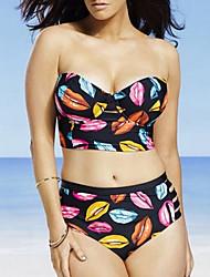 povoljno -Žene Osnovni Duga Suknja Bikini Kupaći kostimi - Geometrijski oblici XL XXL XXXL