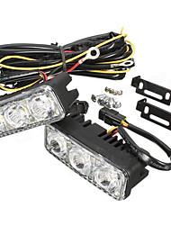 Недорогие -пара светодиодный автомобиль белый дрл& желтый указатель поворота дневного света
