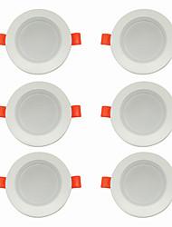 billige -6stk 5 W 360 lm 10 LED Perler Let Instalation Forsænket LED nedlys Varm hvid Kold hvid 220-240 V Hjem / kontor Stue / spisestue
