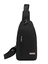 Недорогие -Муж. Мешки холст Слинг сумки на ремне Молнии Черный / Серый