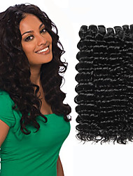 저렴한 -3 개 묶음 말레시아인 헤어 딥 컬리 100 % 레미 헤어 위브 번들 번들 헤어 인모 연장 위브 10-26 인치 자연 색상 인간의 머리 되죠 털실 천연 새로운 인간의 머리카락 확장 여성용