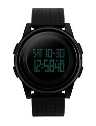 Недорогие -Муж. Спортивные часы электронные часы Цифровой Черный / Белый / Синий Защита от влаги Секундомер Фосфоресцирующий Цифровой На каждый день Мода - Пурпурный Синий Черный / Белый