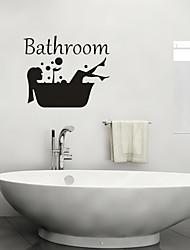 Недорогие -Декоративные наклейки на стены - Люди стены стикеры Пейзаж Гостиная / Спальня / Ванная комната