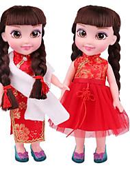 baratos -Boneca de moda Bebês Meninas 14 polegada Smart realista Crianças / Adolescente de Criança Unisexo Brinquedos Dom