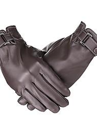 Недорогие -перчатки с сенсорным экраном мужские кожаные перчатки из овчины, зимняя теплая флисовая подкладка