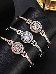 cheap -Women's Crystal Tennis Chain Crystal Bracelet Rhinestone Sun Precious Simple Fashion Elegant Bracelet Jewelry Gold / Silver / Rose Gold For Going out Work