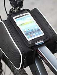 Недорогие -ROSWHEEL Сотовый телефон сумка / Бардачок на раму 5.5 дюймовый Сенсорный экран Велоспорт для Samsung Galaxy S4 / iPhone 5/5S / iPhone 8/7/6S/6 Черный