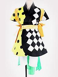 זול -קיבל השראה מ קוספליי קוספליי אנימה תחפושות קוספליי חליפות קוספליי תבנית גאומטרית חולצה / חצאית / חגורה עבור בגדי ריקוד גברים / בגדי ריקוד נשים
