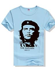 baratos -Homens Camiseta Estampado, Geométrica / Estampa Colorida