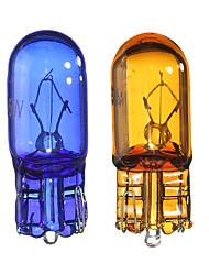 Недорогие -12 В T10 W5W 501 5 Вт супер белый / желтый ксеноновые лампы боковые габаритные огни