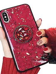 Недорогие -Кейс для Назначение Apple iPhone XS / iPhone XR / iPhone XS Max со стендом / IMD / С узором Кейс на заднюю панель Мрамор Мягкий ТПУ