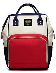 hesapli -Kadın's Çantalar Tuval sırt çantası Fermuar için Günlük Kış YAKUT / Doğal Pembe / Mor