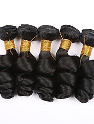 tanie -6 pakietów Włosy brazylijskie Luźne fale Włosy naturalne Nieprzetworzone włosy naturalne Fale w naturalnym kolorze Doczepy Pakiet włosów 8-28 in Kolor naturalny Ludzkie włosy wyplata Bezzapachowy